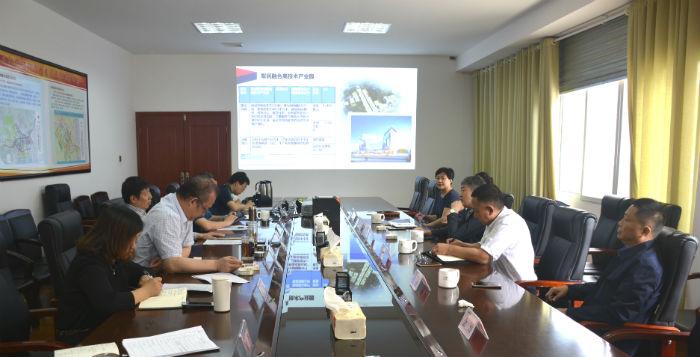 新疆生產建設兵團建設工程有限公司一行到啪啪视频公司考察交流
